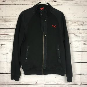 Puma Men Two Tone Black Jacket